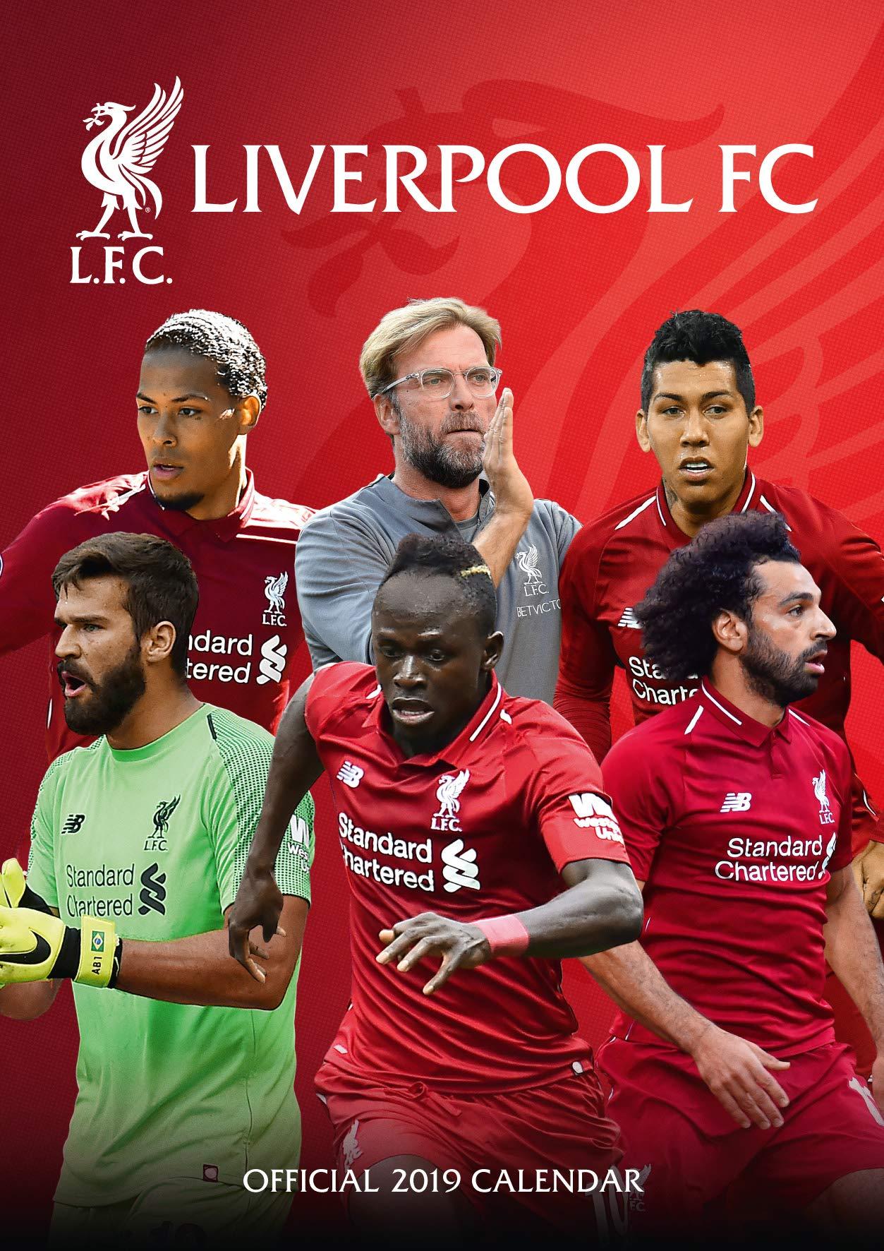 32c3d52f0 Liverpool Official 2019 Calendar - A3 Wall Calendar Calendar – Wall Calendar
