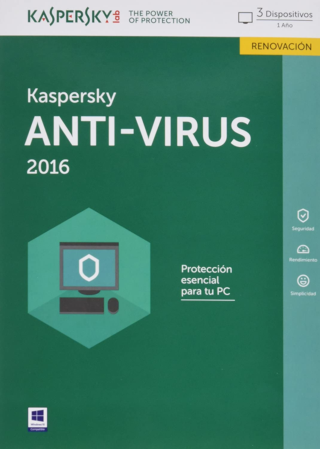 Kaspersky AntiVirus 2016 - Software De Seguridad, 3 Usuarios ...