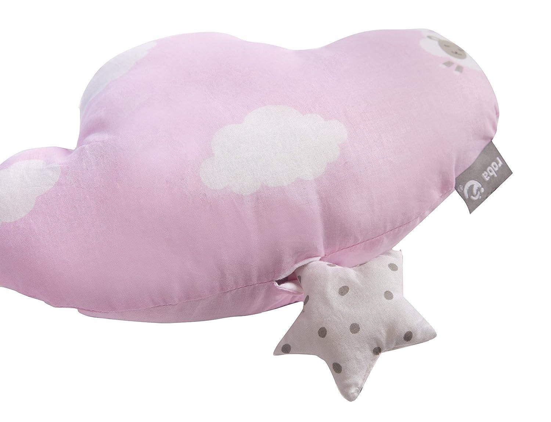Baby Einschlafhilfe Babyzimmer Deko taupe // mint Textil-Wolke waschbar roba Spieluhr Happy Cloud