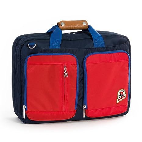 d069553bbc0482 Borsa Ufficio Zaino INVICTA - BICOLOR - porta pc fino a 15.6'' Rossa blue