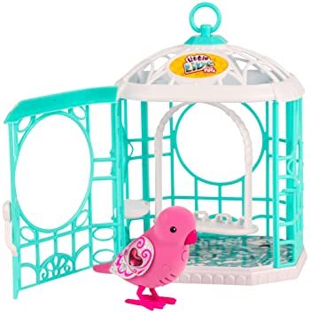 little live pets Pajarito parlanchin Ruby Belle con jaula, serie 5 ...