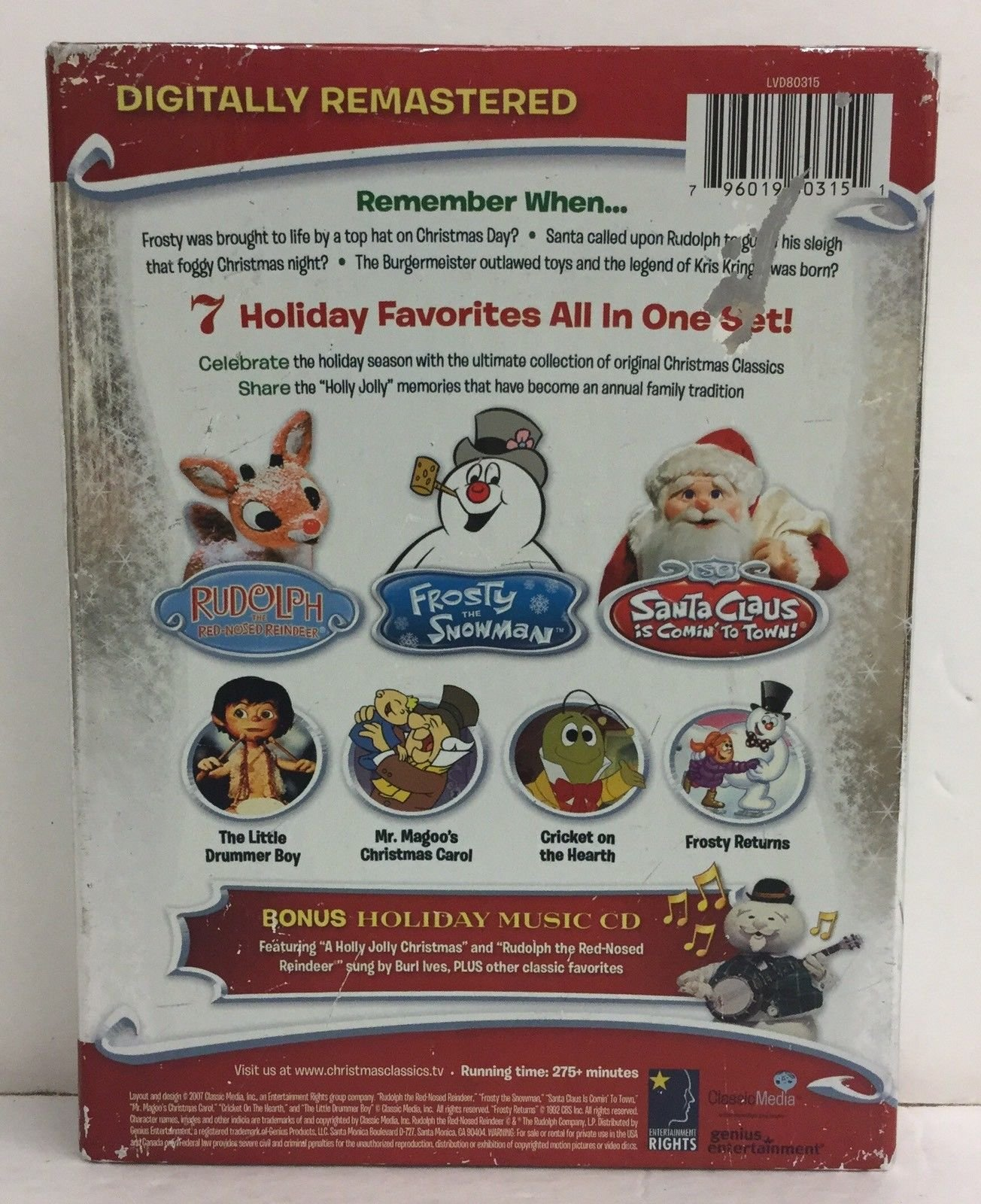 The Original Christmas TV Classics (Rudolph the Red-Nosed Reindeer/Rudolph Returns/Santa Claus is Comin' to Town/Frosty the Snowman/Frosty Returns/The Little Drummer Boy/Mr. Magoo's Christmas Carol) by Elm Products Inc.