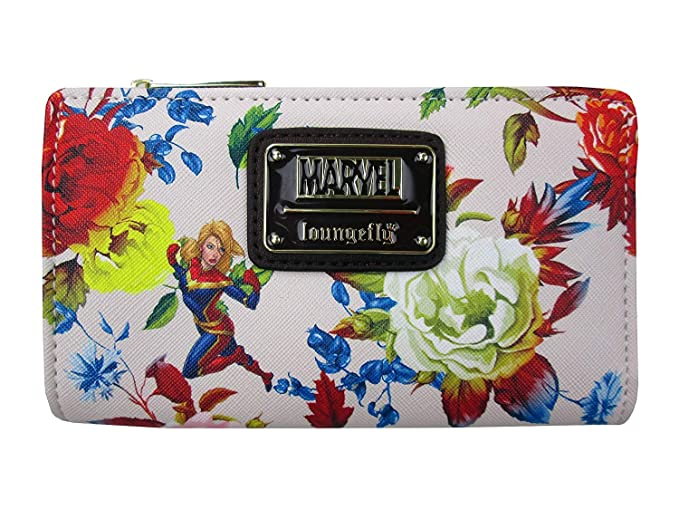 Amazon.com: Loungefly x Captain Marvel - Cartera plegable de ...