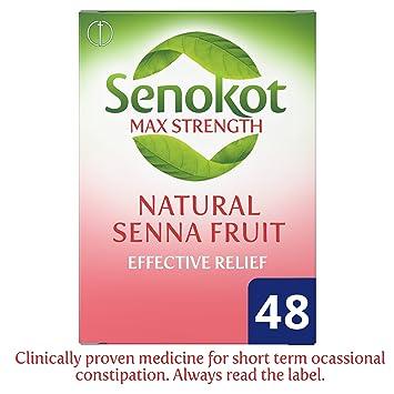 Senokot Max Strength Senna 48 Tablets Amazon Health