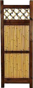 Oriental Furniture 4 ft. x 1 ½ ft. Japanese Bamboo Zen Garden Fence