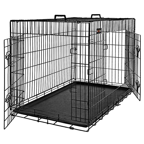 FEANDREA Jaula para Perros, Jaula para Mascotas con 2 Puertas, 92 ...