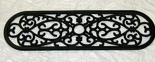 Geo Crafts Rubber Oval Stair Tread Doormat, Set of 2