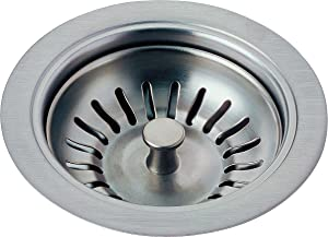 Delta Faucet 72010-AR Flange and Strainer Kitchen Sink, Arctic Stainless