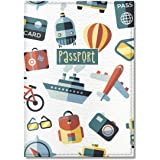 Quttie, Travel Vegan Eco Leather Passport Cover for Women, Men (Tourist Pattern)