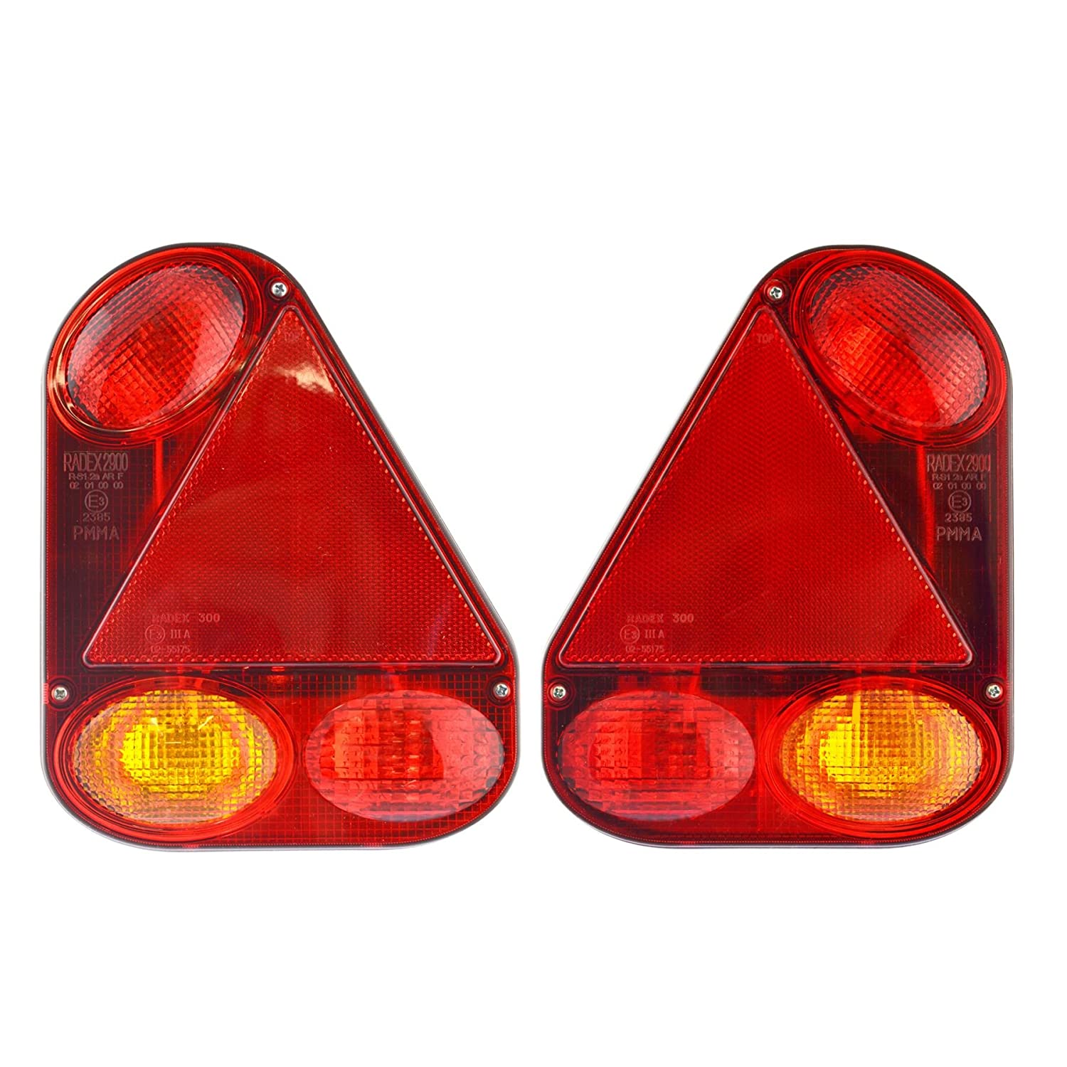 AB Tools-Maypole Trailer Lights Radex Right & Left for Ifor Williams, Indespension Lamp TR221_203