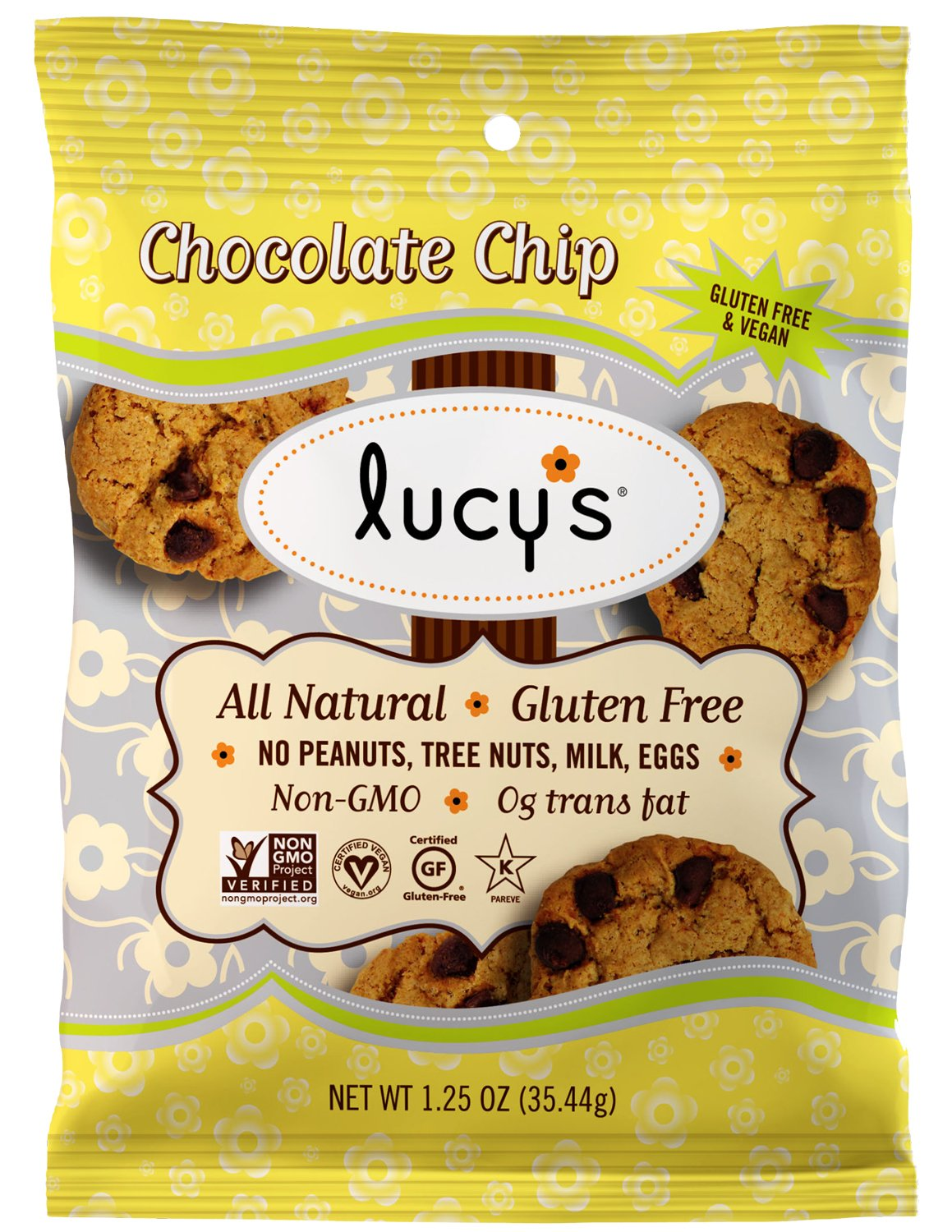 Lucy's Chocolate Chip Cookies, 1.25 Ounce Packages (Pack of 16) by Lucy's