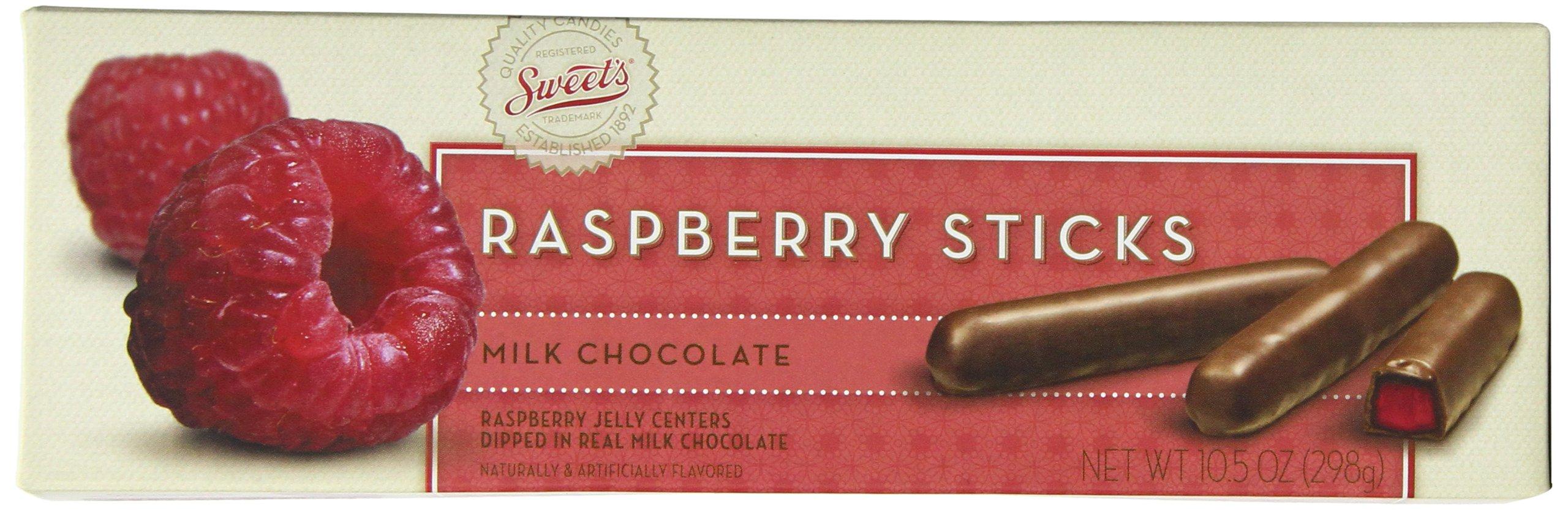 Sweets Candy Milk Chocolate Sticks, Raspberry, 10 Ounce