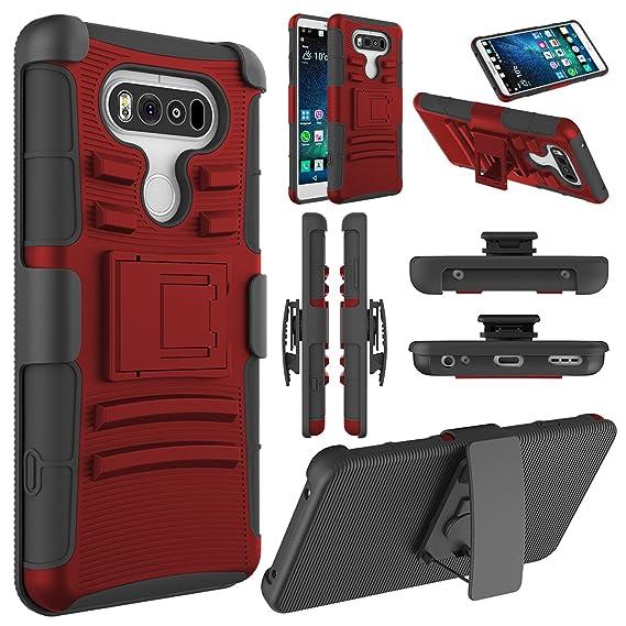 pick up 064bb 721da LG V20 Case, LG V20 Holster Case,ELEGANT CHOISE Heavy Duty Dual Layer Full  Body Protective Kickstand Case Cover with Belt Clip Holster Case for LG V20  ...