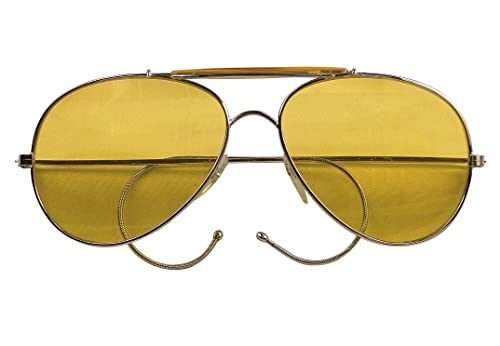 Amazon.com  10200 Air Force Aviator Style Sunglasses (Yellow Tint ... 609e8421d9c