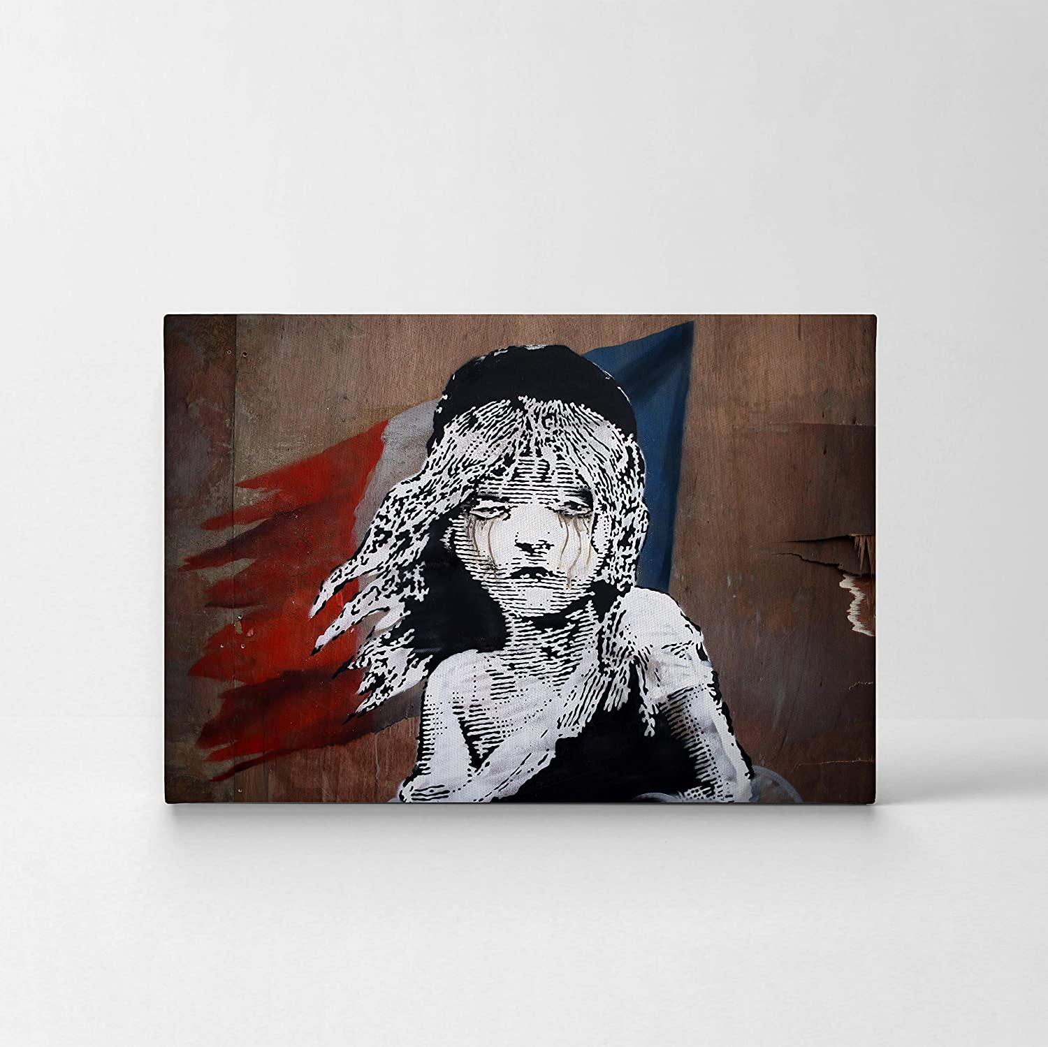 Banksy canvas print les miserable graffiti london uk street art banksy wall art modern art wall decor home decor stretched ready to hang 0 handmade in