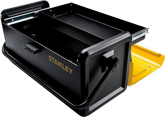 STANLEY STST1-75509 - Caja metalica con bandeja deslizante, 47.1 x 23.6 x 22.7 cm: Amazon.es: Bricolaje y herramientas