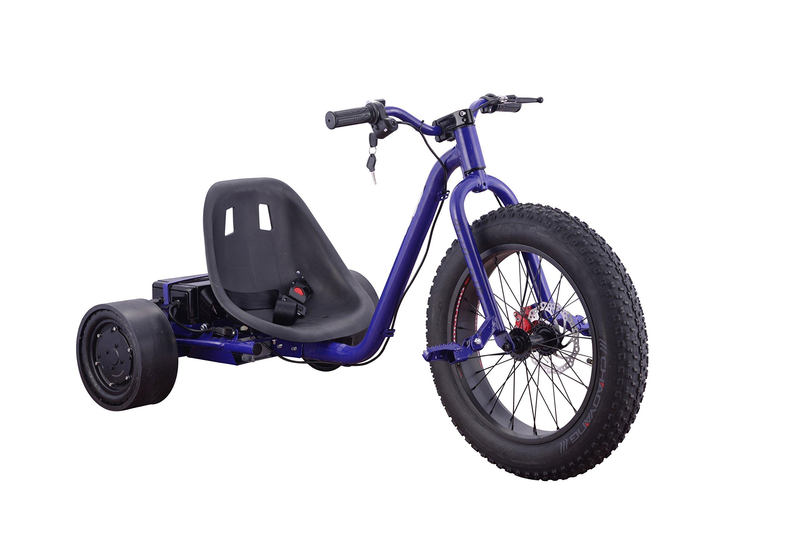 Fast 22MPH Kids Teens 3 Wheel Drift Trike 900 Watt (BLUE)
