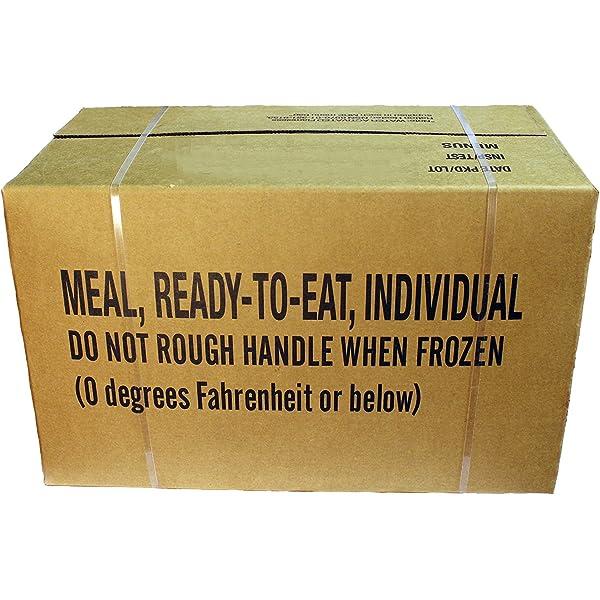 MRE Meals Ready to Eat - Comida preparada, raciones EE. UU., EPA, A o B, Case A INSP 2019: Amazon.es: Deportes y aire libre
