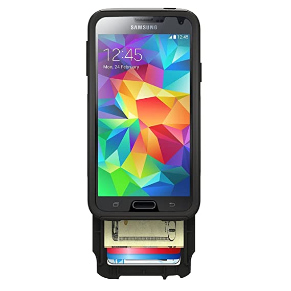 competitive price 1a008 5ae81 Otterbox Commuter Series Wallet Case for Samsung Galaxy S5 - Retail  Packaging - Black