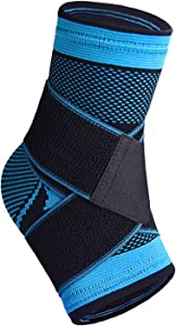 U-pick Plantar Fasciitis Sock with Arch Support, Eases Swelling, Achilles Tendon & Ankle Brace Sleeve with Compression Effective Joint Pain Foot Pain Relief from Heel Spurs -Single