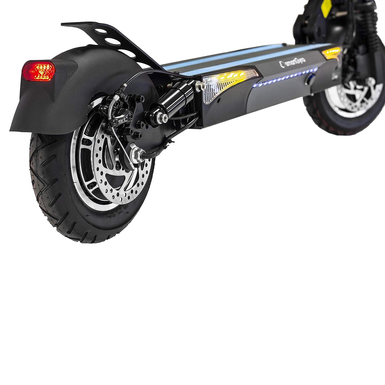 SMARTGYRO Xtreme Speedway V2.0 - Patinete Eléctrico de 800 W con 3 Marchas, Vel. 25 Km/h, Batería 13.000 mAh 48V, Doble suspensión Reforzada, Frenos ...