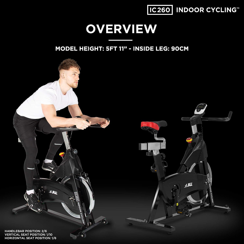 JLL IC260 - Bicicleta estática, volante de 15 kg con resistencia ...