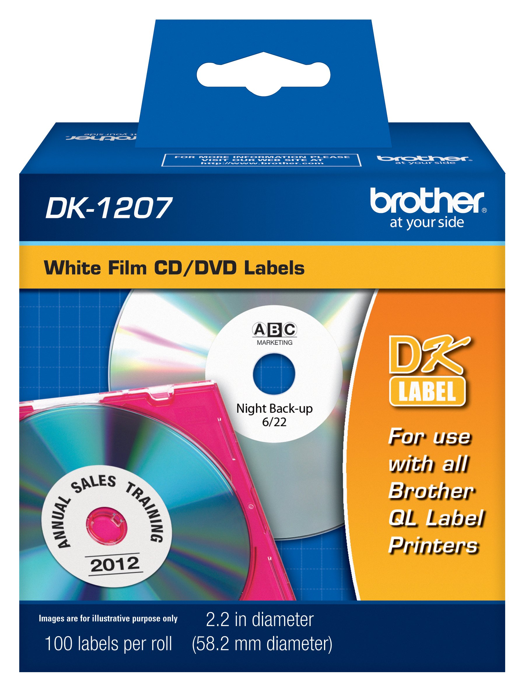 Brother DK-1207 CD/DVD Label Roll