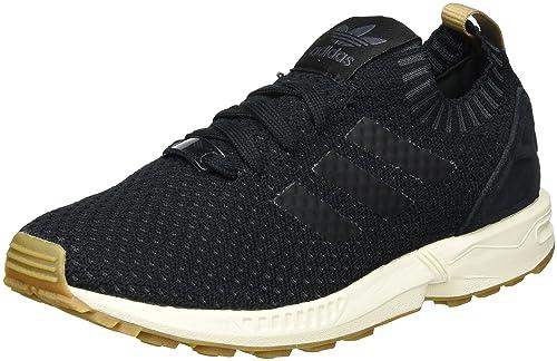 big sale fdda6 94e92 Adidas ZX Flux Primeknit, Zapatilla de Deporte Baja del Cuello Unisex  Adulto, Negro Core Black Gum, 37 1 3 EU  Amazon.es  Zapatos y complementos
