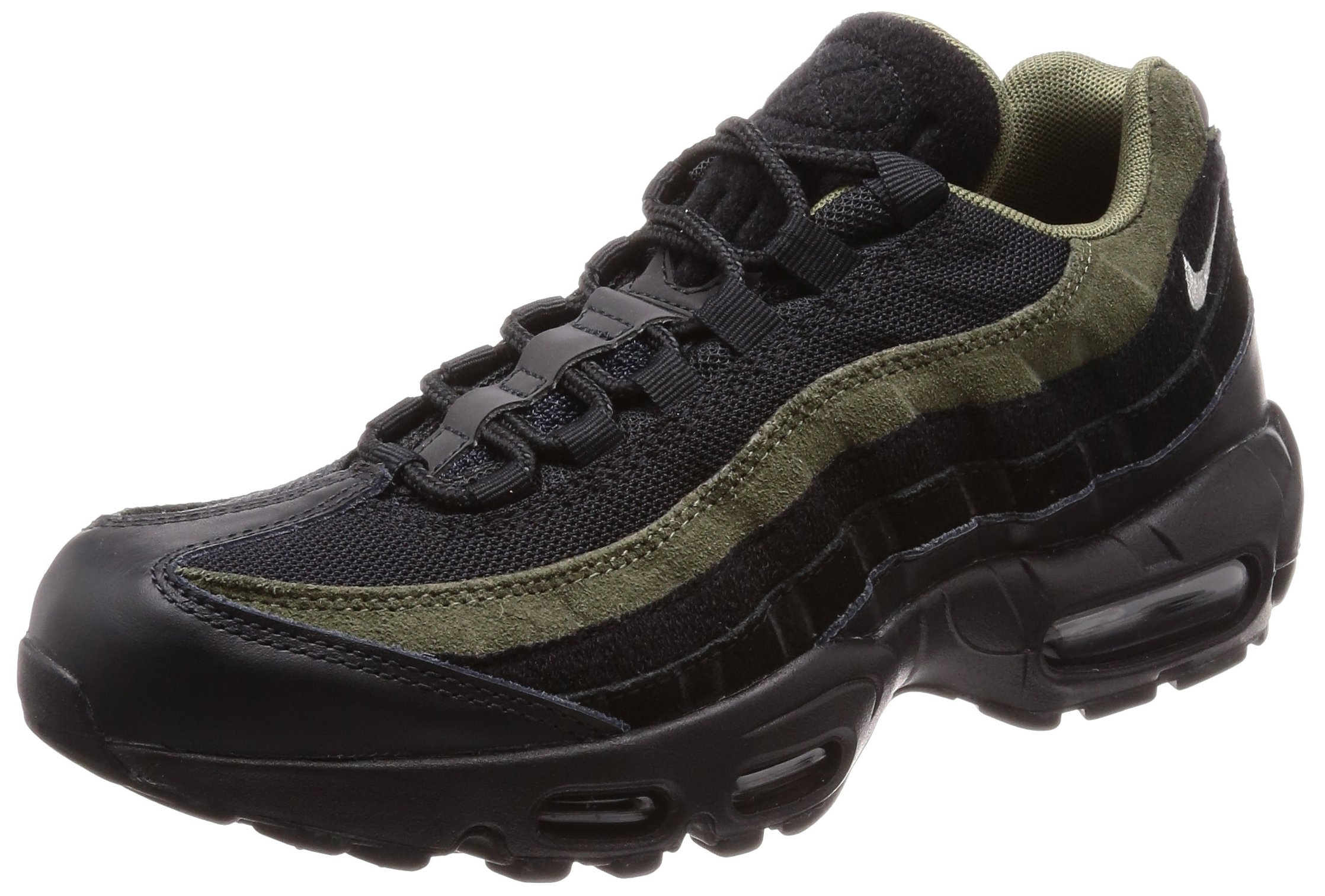 competitive price 81413 bb2d1 Galleon - NIKE Men s AIR MAX 95 HAL Shoe Black Cargo Khaki FLT Silver (12  D(M) US)