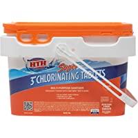 "HTH 42042 Super 3"" Tablets Swimming Pool Chlorine, 5 lbs"