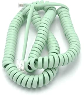 amazon telephone cord handset curly phone color earth day Telephone Wire telephone cord handset curly phone color earth day green 15ft works on virtually all