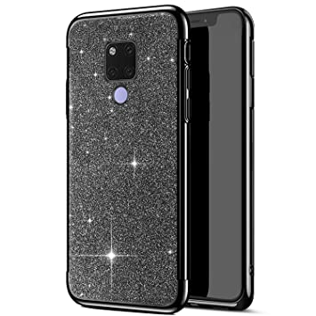 JAWSEU Funda Glitter Compatible con Huawei Mate 20 X, Lujo ...