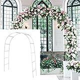 SLanC Metal Garden Arbors Wedding Arch Outdoor Indoor Pergola Lightweight Metal Arbor Wedding Garden Arbor Bridal Arch…