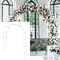 SLanC Metal Garden Arbors Wedding Arch Outdoor Indoor Pergola Lightweight Metal Arbor Wedding Garden Arbor Bridal Arch Arbor Party Decoration(White)