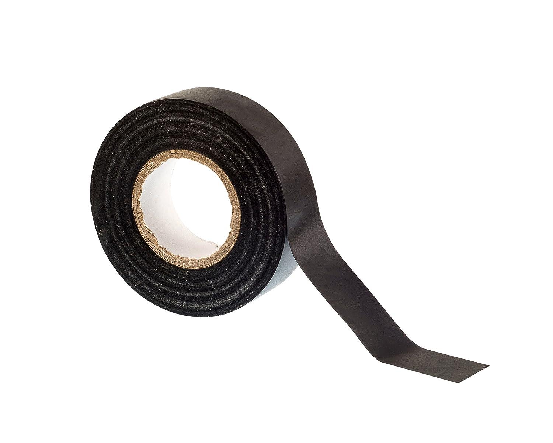 Paquete de 10 rollos de cinta de alta calidad Gocableties 10 rollos de cinta aislante de PVC amarillo 20 m x 19 mm
