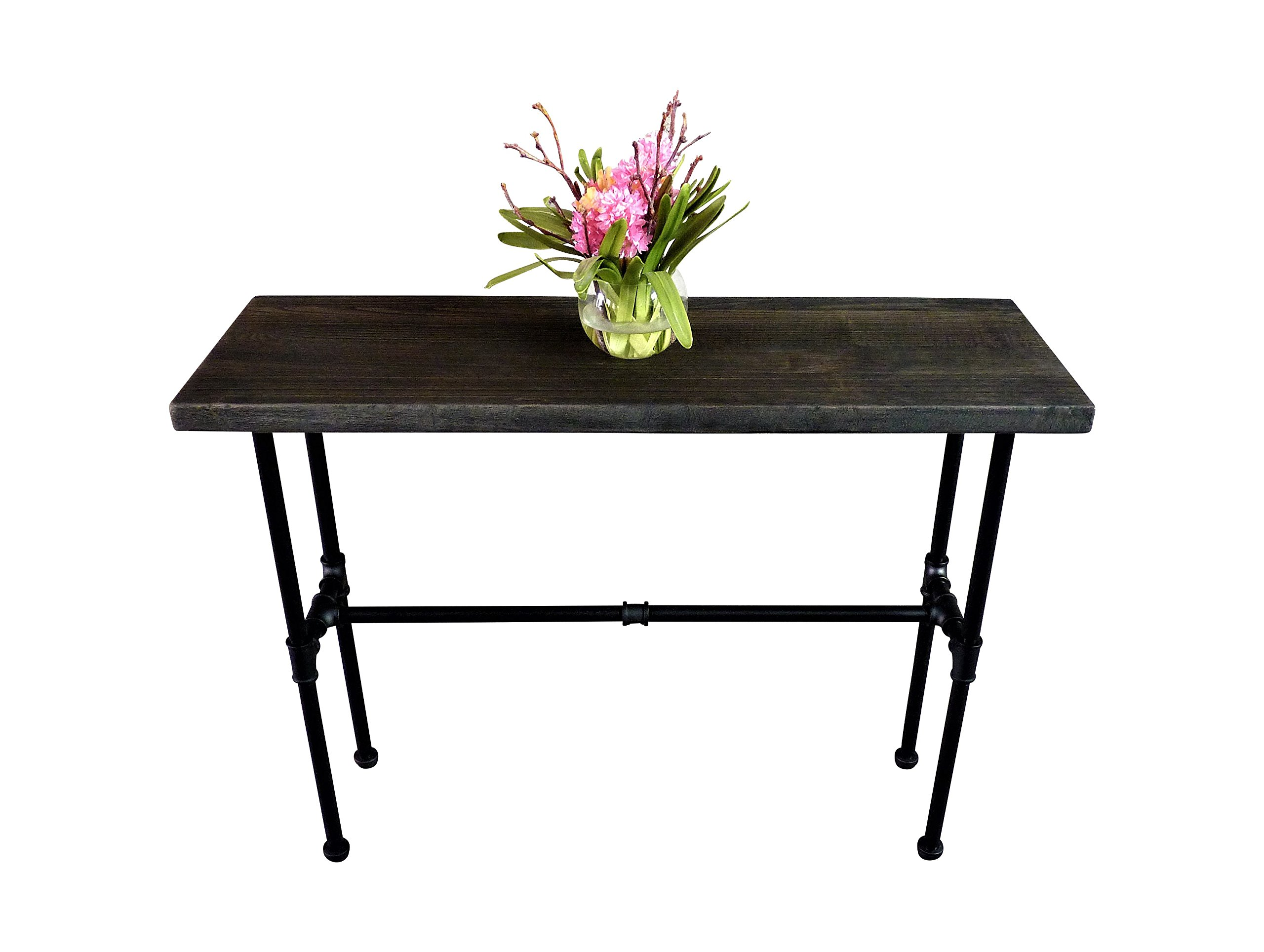 FURNITURE PIPELINE Corvallis Industrial Chic Console Table by FURNITURE PIPELINE