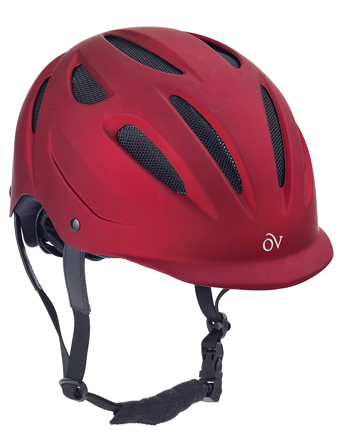 Red M-L Red M-L Metallic Predege Helmet by Ovation