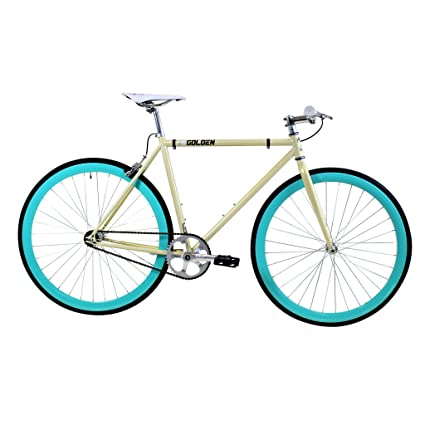 Amazon.com : Golden Cycles Fixed Gear Bike Steel Frame with Deep V ...