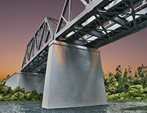 Walthers Trainline Double-Track Railroad Bridge Concrete Pier 2 Pack Train Collectable Train