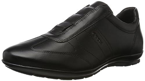 Geox Uomo Symbol D, Zapatillas para Hombre, Negro (Black), 41 EU
