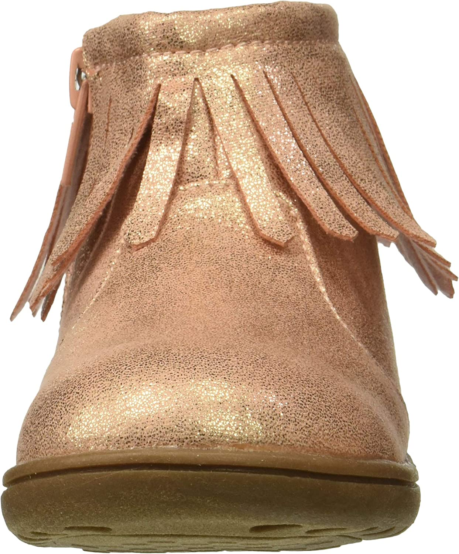 Carters Kids Girls Cata3 Rosegold Fringe Boot Chukka