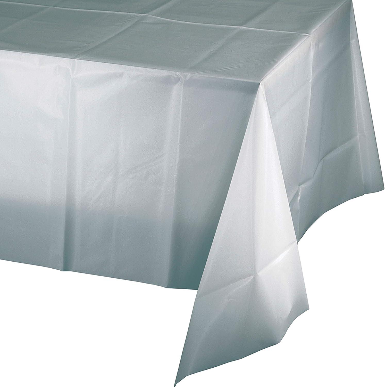 Glittering Gold Plastic Tablecloths 3 ct