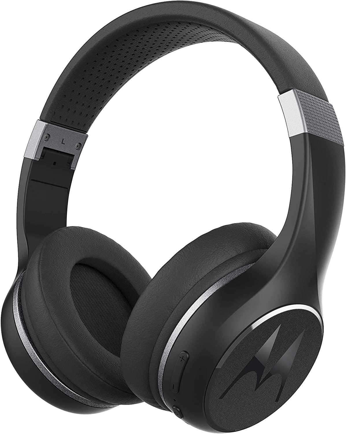 Motorola Escape 220 Over-The-Ear Bluetooth Wireless Headphones - HD Sound, Built-in Microphone, 23-Hour Play Time, Noise Isolation - Foldable & Compact - Black