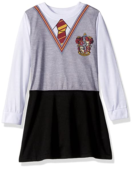 Harry Potter Big Girls Hermoine Gryffindor Uniform Night Gown by Intimo