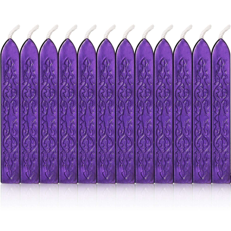 Bememo 12 St/ück Siegelwachs mit Dochten Antik Feuer Manuskript Siegelwachs f/ür Wachssiegel Stempel 12 Colors B