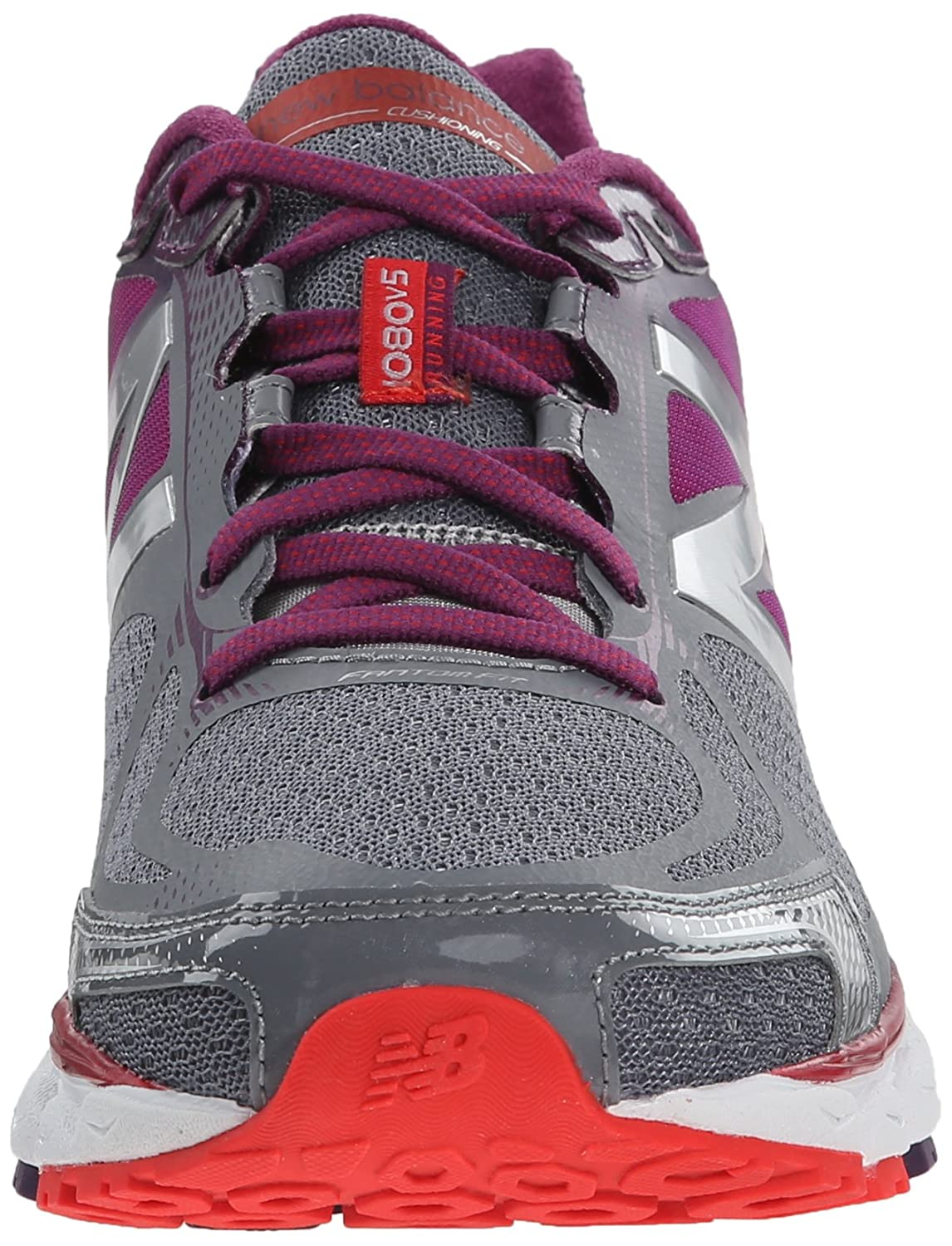Amazon.com | New Balance Womens W1080V5 Neutral Run Shoe-W, Grey/Purple, 5 B US | Road Running