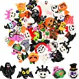 50 Pieces Flat Back Buttons Halloween Resin Flatback Resin Button Crafts for DIY Crafts Making Scrapbooking Decoration