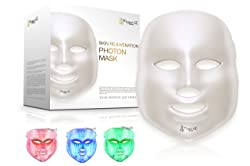 Project E Beauty 3 Color LED Mask Photon Light Skin Rejuvenation Therapy Facial Skin Care Mask