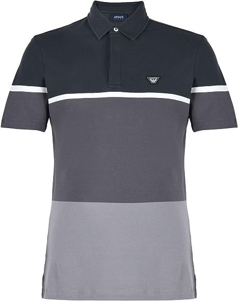 Armani 7739T Polo uomo Jeans BLU/Grigio t-Shirt Men [S]: Amazon.es ...