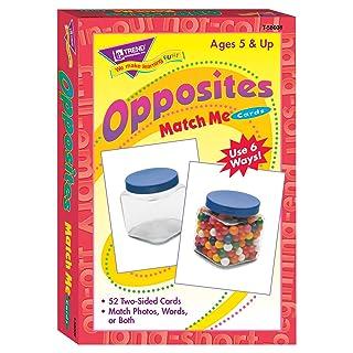 Trend Enterprises Opposites Match Me Cards Game (52 Piece)